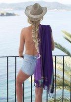 Kikoy strandlaken Giza Purple 96 x 170 cm