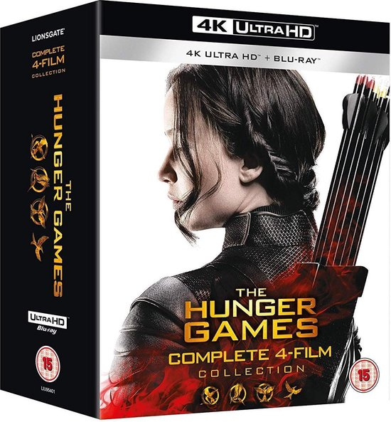 The Hunger Games Complete 1-4 (4K UHD + blu-ray) (Import zonder NL)