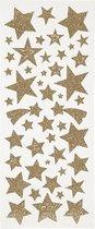 Creativ Company Weihnachtssticker Glitzer, Sterne sticker Folie Bruin, Wit Verwijderbaar 110 stuk(s)