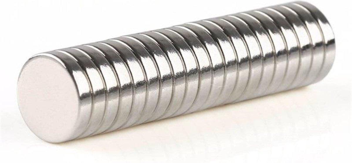 Sterke magneten rond    50N Sterk magneetjes - 20 stuks   8 x 2mm
