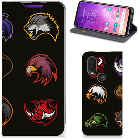 Motorola One Vision Magnet Case Cartoon