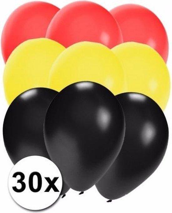 30x Ballonnen in Duitse kleuren