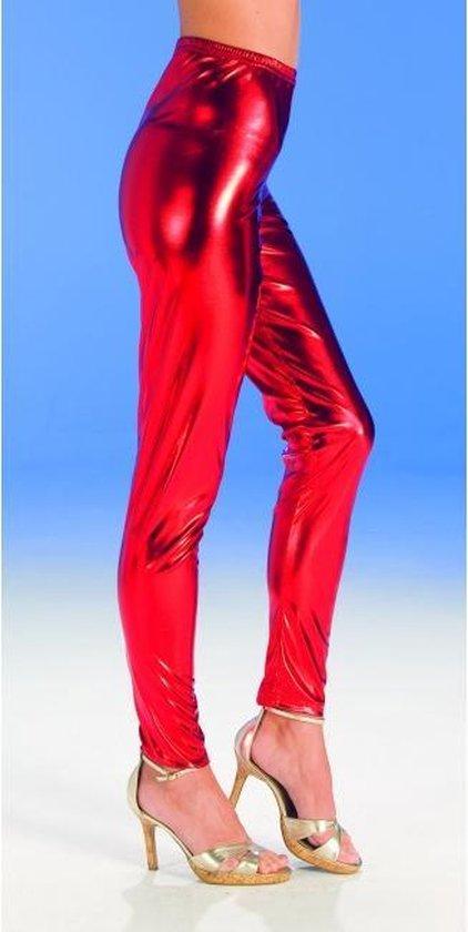 Rode glimmende legging voor dames 40-42 (L/XL)