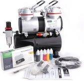 Fengda FD-196K(AS-196K) Airbrush Compressor Set – Compleet met Airbrush Pistool