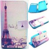 iCarer Eiffel tower Print wallet case hoesje Alcatel One Touch Pop 5.5