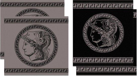 DDDDD Minerva - Thee- en Keukendoeken Set - Grey - 2 x 2 Stuks