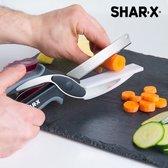 Blade & Board Schaar-Mes met ingebouwde snijplank