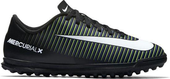 Nike Mercurial X Vortex III Turf Jr Voetbalschoenen BlackWhite Electric Green Maat 38.5