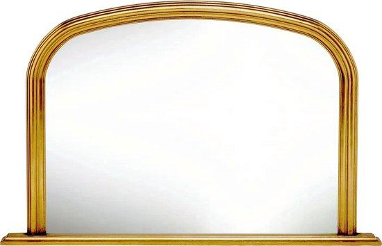 Moderne Schouw spiegel Alec Buitenmaat 79x120cm Goud