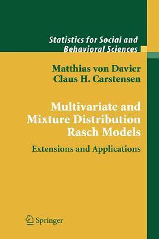 Boek cover Multivariate and Mixture Distribution Rasch Models van Matthias Von Davier (Paperback)