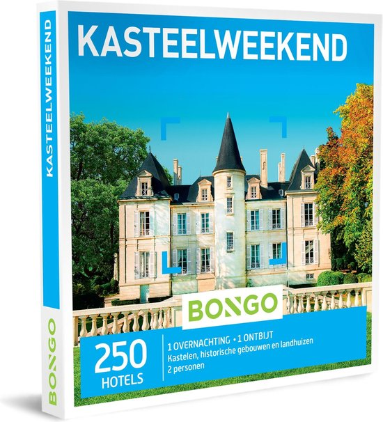 Bongo Bon Nederland - Kasteelweekend Cadeaubon - Cadeaukaart cadeau voor man of vrouw   250 historische hotels