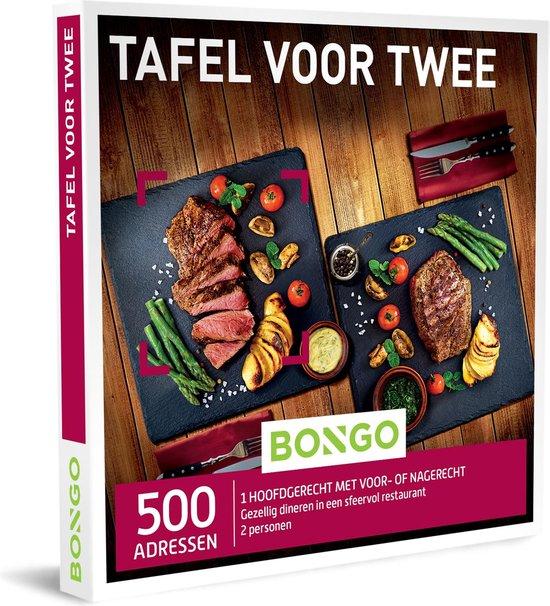 Bongo Bon Nederland - Tafel voor Twee Cadeaubon - Cadeaukaart cadeau voor man of vrouw   500 sfeervolle restaurants