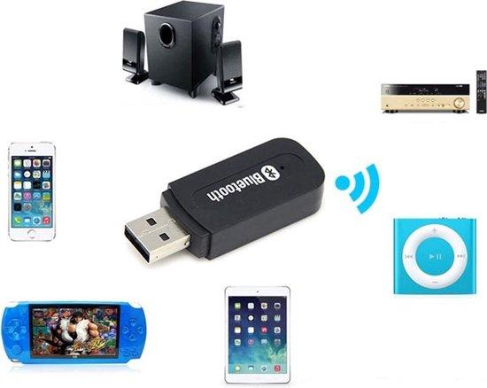 Draadloze USB Bluetooth Audio Adapter / Receiver (Ontvanger) - Voor Auto Radio / Stereo / Speakers / PC -  A2DP Voor Auto Radio, Hifi Stereo, MP3 - Inclusief Jack 3.5 MM Aux & USB Aansluiting Connector