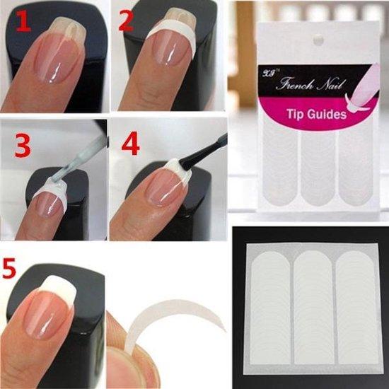 Paie Nagelsticker French Manicure Voordeelset - 51 stuks