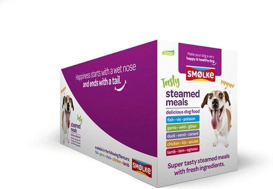 smolke vers gestoomd mix doos - hondenvoer - 10 x 395 g