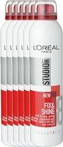 L'Oréal Paris Studio Line Essentials Fix & Shine 24H Fixing Spray Super Strong - 6 x 250 ml - Spray - Voordeelverpakking