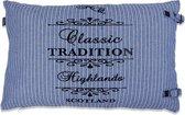 In The Mood Tradition Stripe - Sierkussen - 40x60 cm - Faded Blue