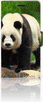 Sony Xperia E3 Uniek Hoesje met Opbergvakjes Panda