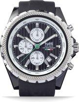 Tutti Milano TM005NO- Horloge -  48 mm - Zwart - Collectie Meteora