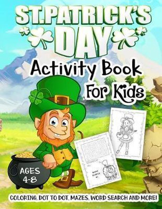 St. Patrick's Day Activity Book for Kids Ages 4-8