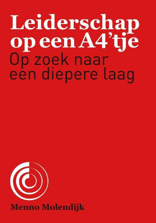 Leiderschap op een A4'tje - Menno Molendijk  