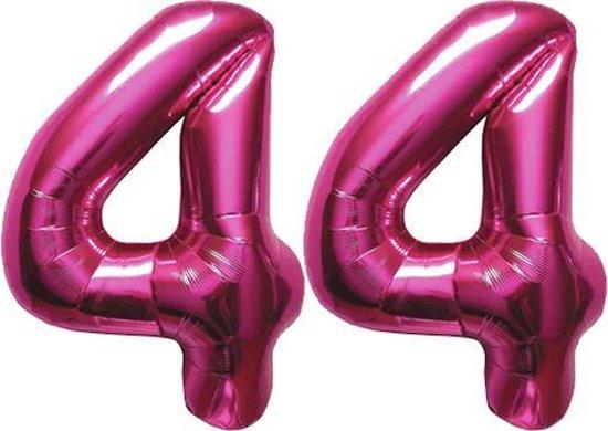 Cijfer 44 Magenta Helium 86 cm Excl. helium