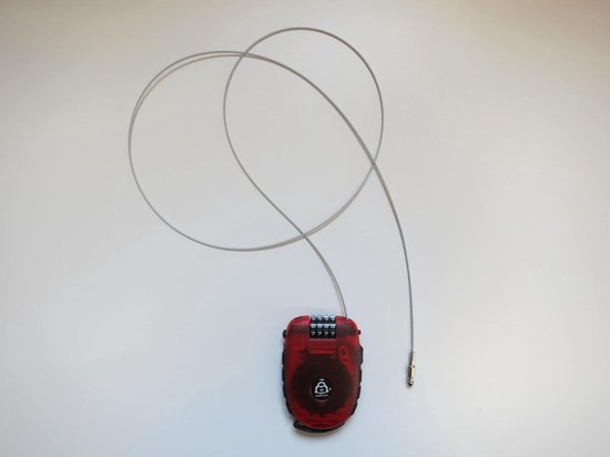Lock-Vogel – Oprolbaar Kabelslot 120 cm blauw (cijfer-veiligheidsslot) - Lock-Vogel