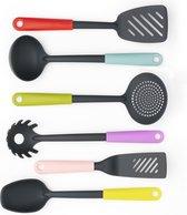 Brabantia Tasty Colours Kookgerei set - Anti-aanbak - Mixed - set van 6
