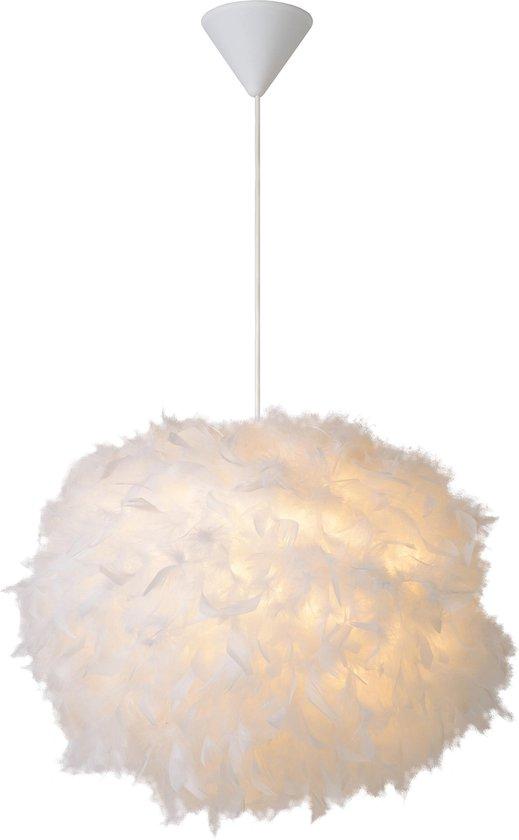 Lucide GOOSY SOFT - Hanglamp - Ø 50 cm - 1xE27 - Wit