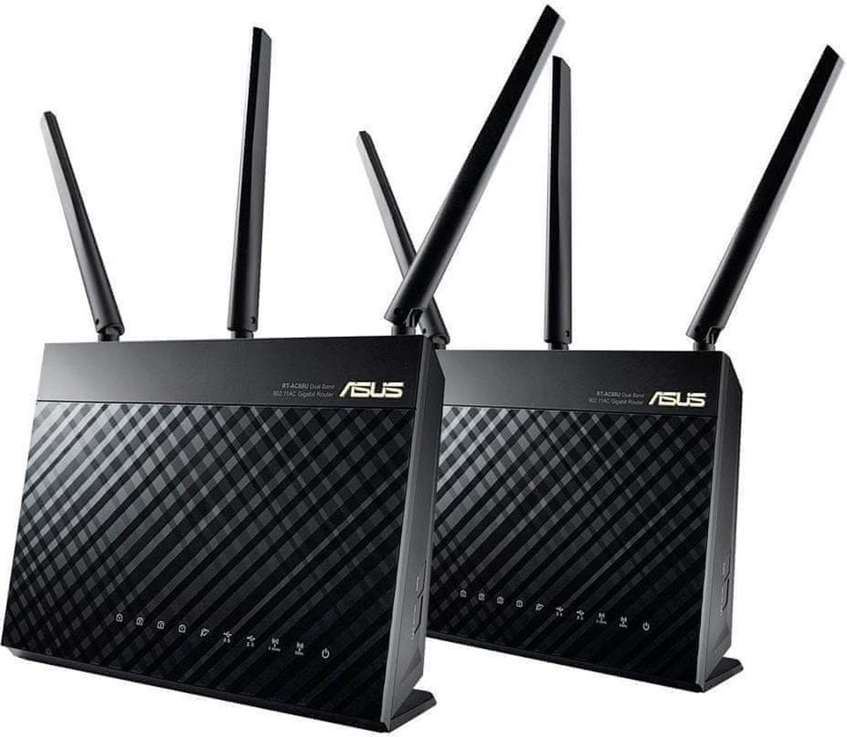 ASUS RT-AC68U - Multiroom Wifi - 2-pack / Zwart