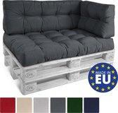Beautissu Style palletkussen – zitkussen 120x80 cm  voor palletbank - kussen grafiet grijs - palettkussens in matraskussen kwaliteit
