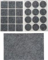 Antikras vilt / meubelvilt grijs - 25-delig - meubel viltjes