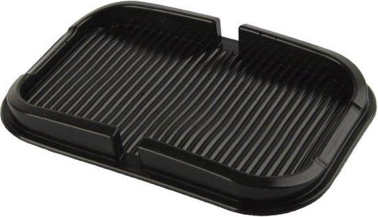Anti-slip pad / matje - voor smartphone - zwart - 18,6 x 11,2 cm - voor in de auto