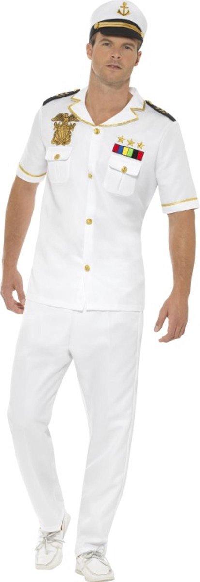 SMIFFYS - Wit kapitein kostuum voor mannen - M - Volwassenen kostuums