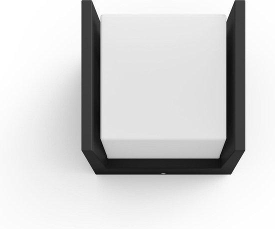 Philips Hue Fuzo wandlamp - White - zwart - smal - open - Buiten