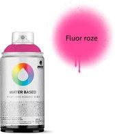 MTN Fluoriserend roze waterbasis spuitverf - 300ml lage druk en matte afwerking