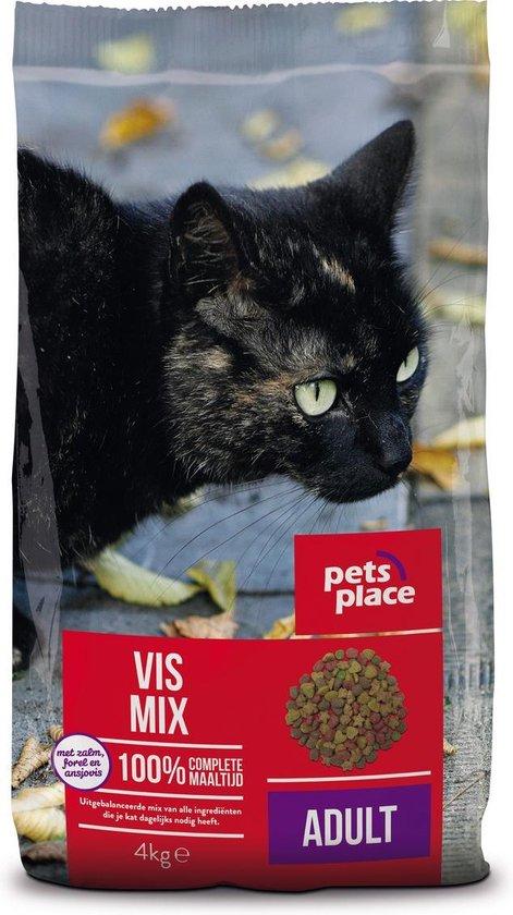 Pets Place Kat Adult - Kattenvoer - Vismix - 4 kg