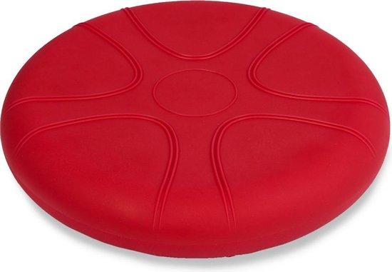Wiebelkussen rood 33 cm - voor kinderen en volwassenen - trainingskussen - balanskussen
