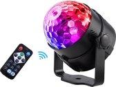 Discobal voor Kinderen - Discolamp met RGB Verlichting en Afstandbediening - Inclusief Zuiglap en Standaard