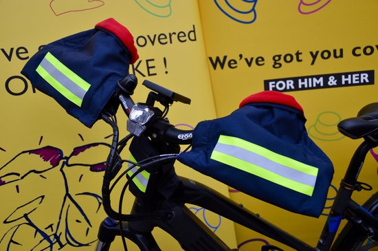 HATSOME verwarmde fietswanten (City) Neon yellow