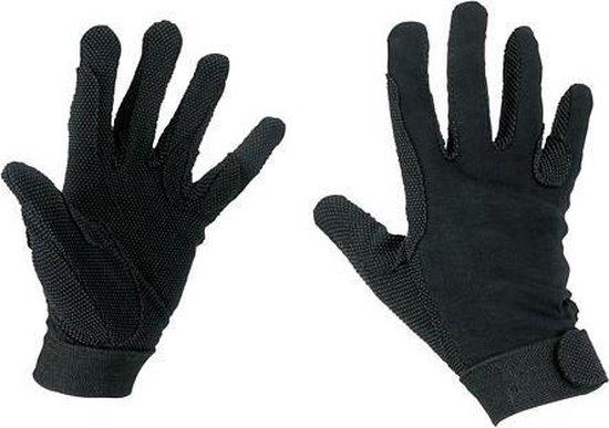 Kerbl Rijhandschoen Katoen Jersey Zwart M