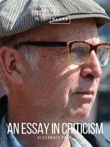 An Essay on Criticism