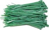 Kabelbinders 2,5 x 100 mm   -   groen   -  zak 100 stuks   -  Tiewraps   -  Binders