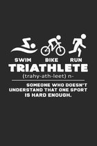 Triathlete: 6x9 Triathlon - dotgrid - dot grid paper - notebook - notes