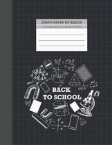 Graph Notebook: Back to School 1 cm Square Graph Paper Quad Ruled Notebook Graph Composition Notebook Graphing Notebook Science & Math