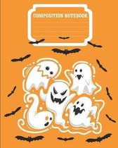 Composition Notebook: Halloween Theme, College Ruled, 100 Pages, 8 x 10''