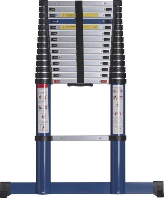 ALDORR Telescoop ladder - 4,40 meter - Stabilisatievoet - Soft closing