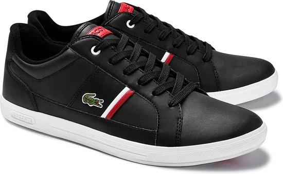 Lacoste Sneakers - Maat 44.5 - Mannen - zwart,roo,wit