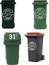 Voordeelset 6x afvalcontainer / kliko sticker   Rosami
