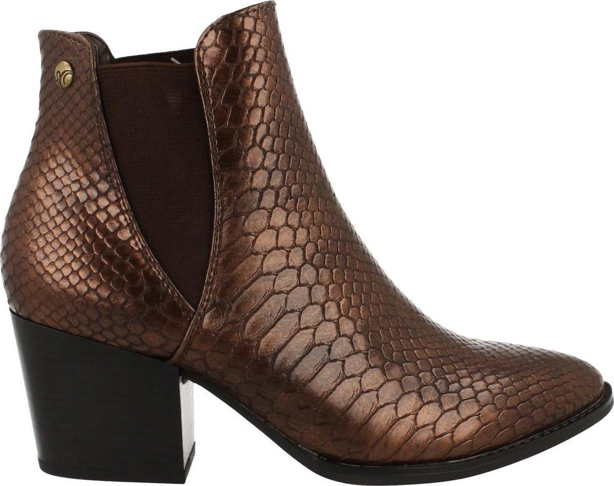 S. Oliver Boot Dames Trend Dierenprint Trend Western Chelsea Brons | 40